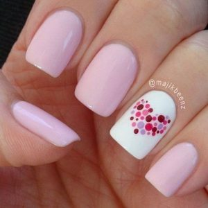 pink shade spotted heart