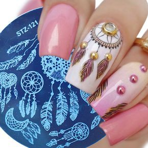 feather dreamcater design stamps