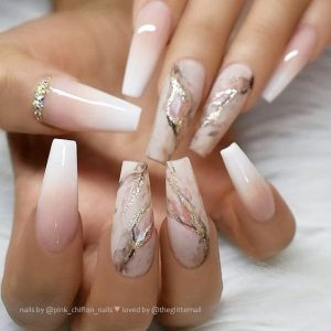 ombre marble white