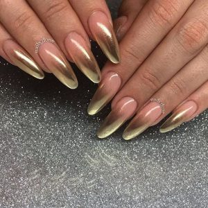 chrome nude ombre french