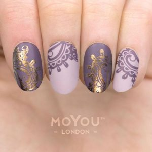 gold purple lace