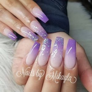 tipped in purple ombre