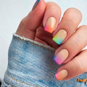 watercolor tips ombre