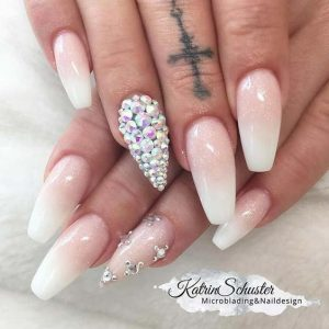stiletto and coffin french ombre