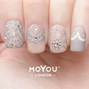 lace glam stamp