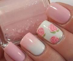ombre pink roses white