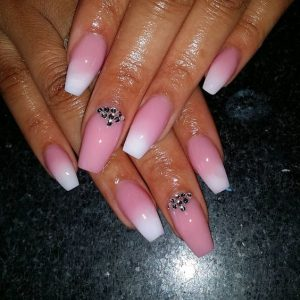 pink white accented glam