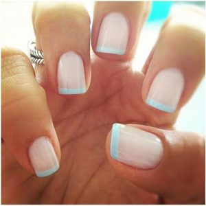 pastel blue tip french