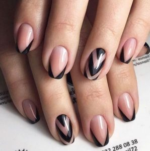 chevron black clear french