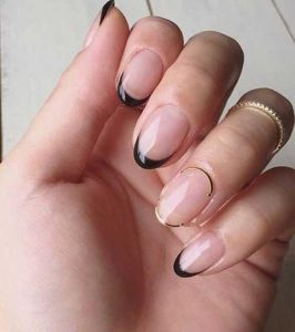 french tip black with wire