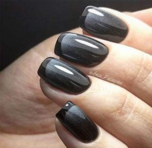 ombre black tip gel
