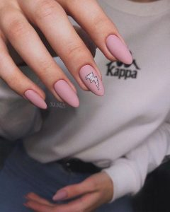lightening nude pink almond