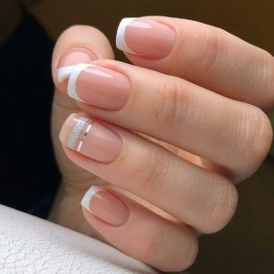 stripe accent french tip
