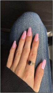 nude pink polish simple
