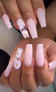 nude pink white flowers