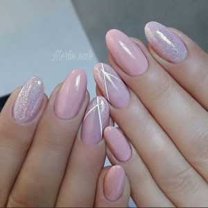 nude pink dainty shimmer