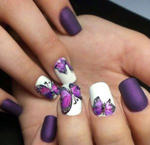 purple matte butterflies