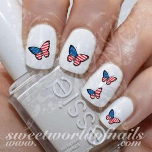 american flag butterfly