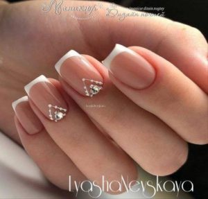 french tip dainty design