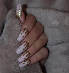 nude gold dripping