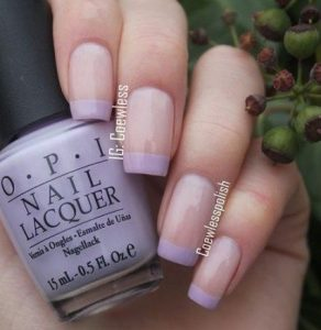 french tips lavender
