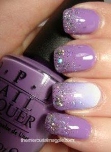 ombre lavender glitter