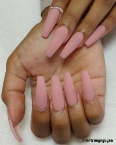 nude pink coffin long