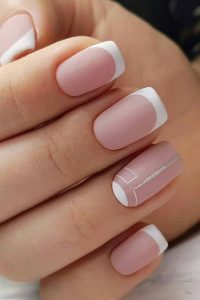 french gel tip matte modern