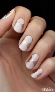 nude pink chrome shapes