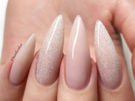 shimmer nude pink stiletto