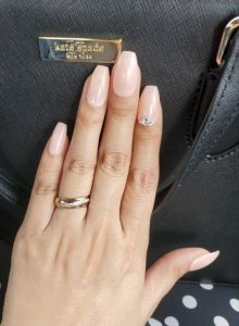 stone accent nude pink