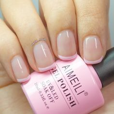 pastel pink tip french