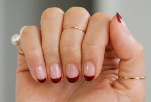 red gel french tips