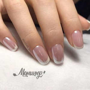 french gel tip shine