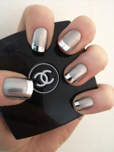 chrome finish french tip