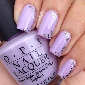 lavender glitter touch