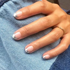 silver tip french gel