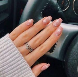 nude pink with stars