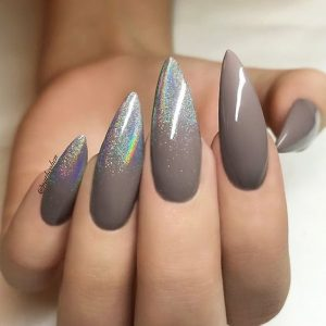neutral with iridescent fade