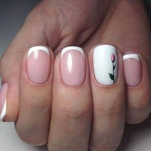 spring flower french tip