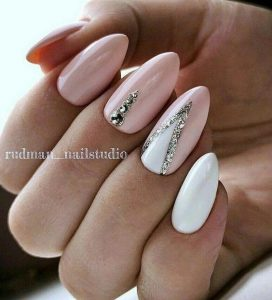 nude pink and white design