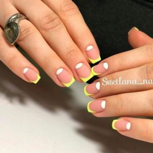 reverse french tip yellow