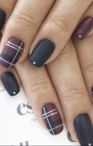 matte black brown plaids