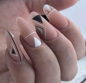 nude black white design shapes