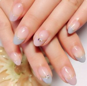 kawaii french tip embellished
