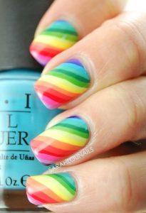 diagonal rainbow stripe