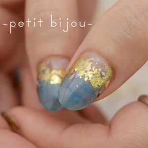 kawaii blue marble gold