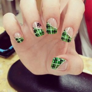 plaid green ends