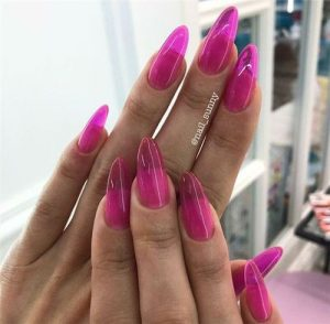 jelly nails almond pink