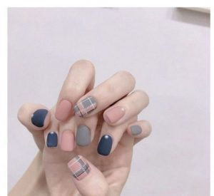 plaid matte korean
